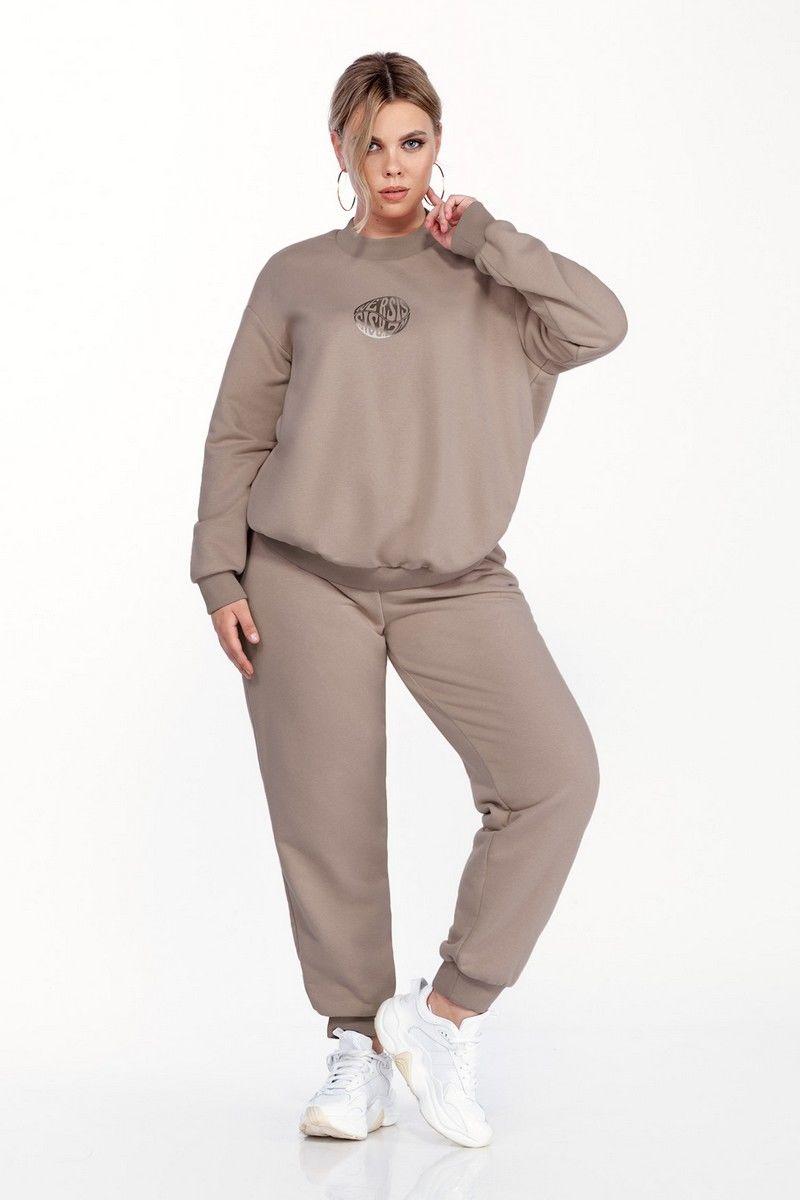 брюки,  свитшот Pretty 1583 капучино