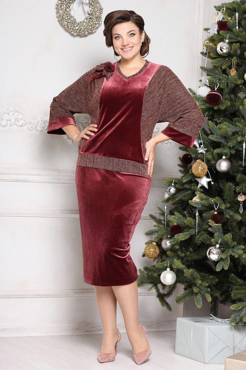 блуза,  юбка Мода Юрс 2637 бордо