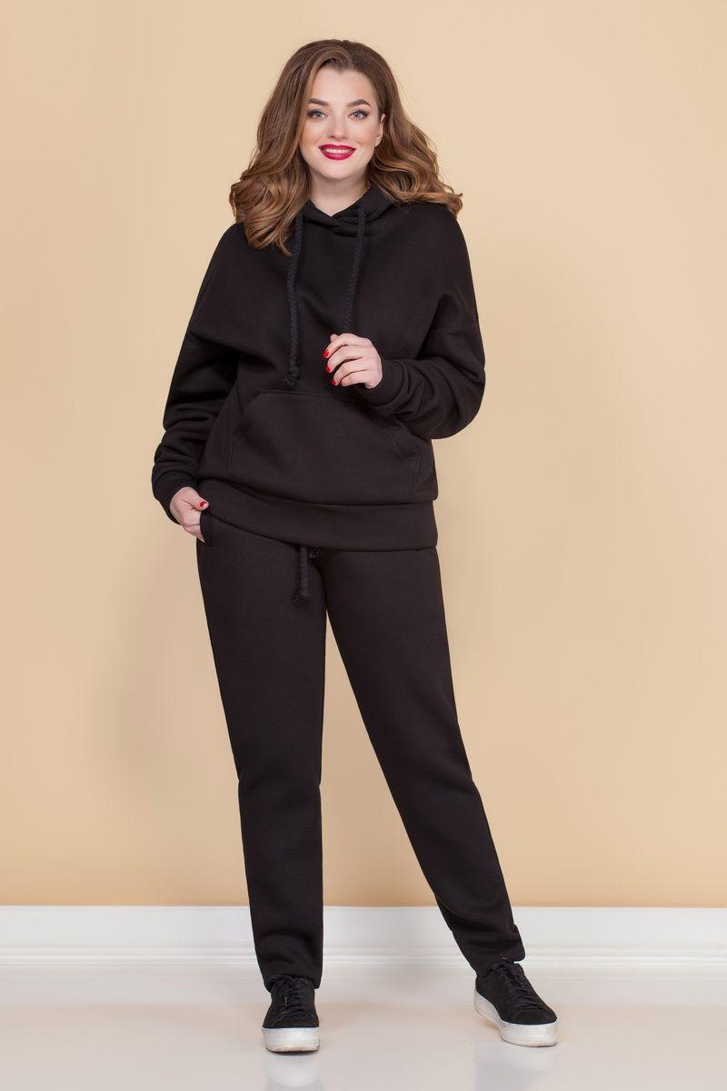 брюки,  толстовка Медея и К 2062 черный