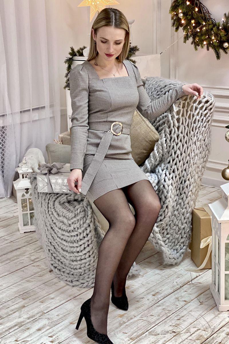 платье S.O.L O Me О4 гусиная_лапка