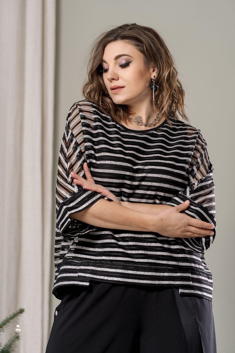 блуза GRATTO 4020 черный+серый