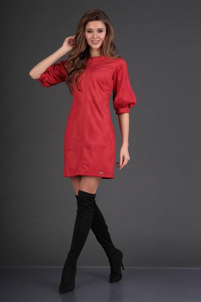 платье DoMira 01-577 красный