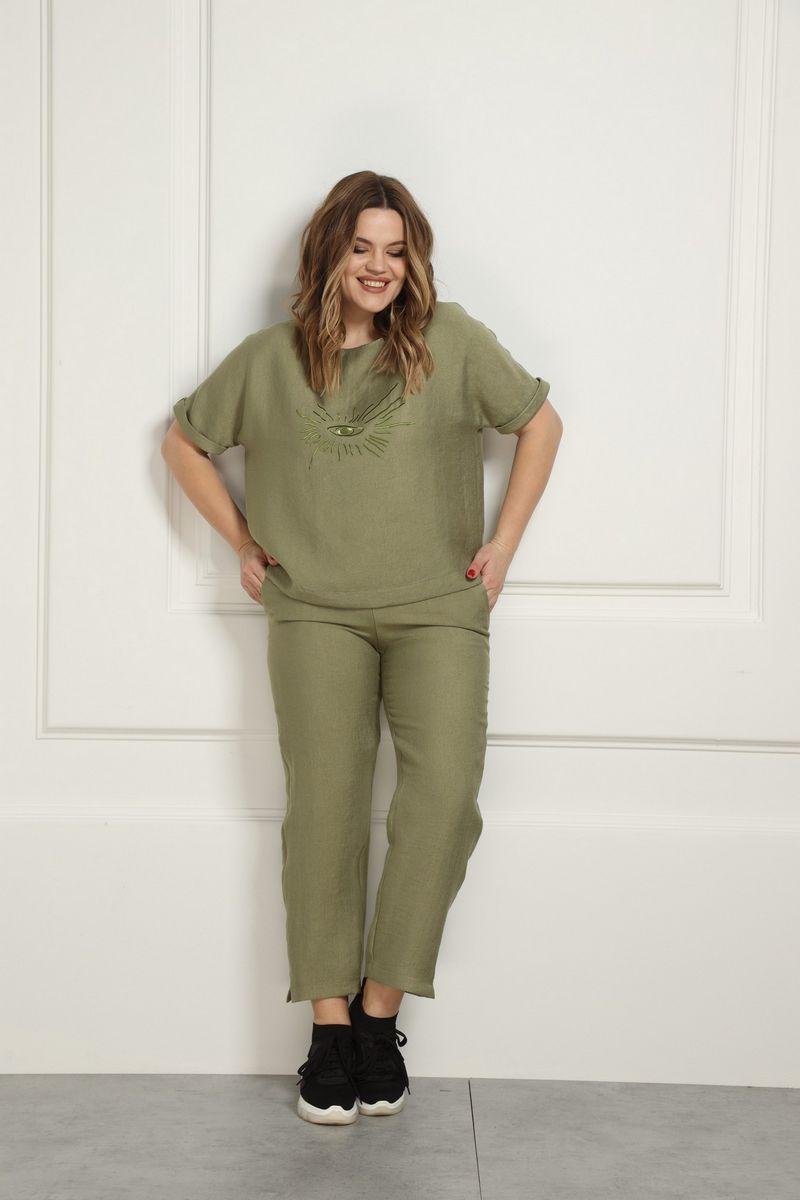 брюки AMORI 5138 зеленый