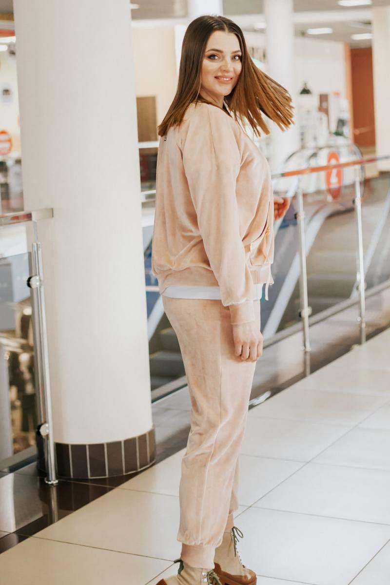 бомбер,  брюки,  футболка TAiER 940 персик