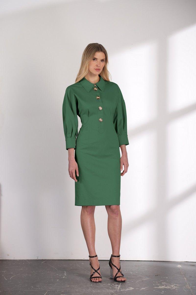 платье Vladini DR1122 зеленый