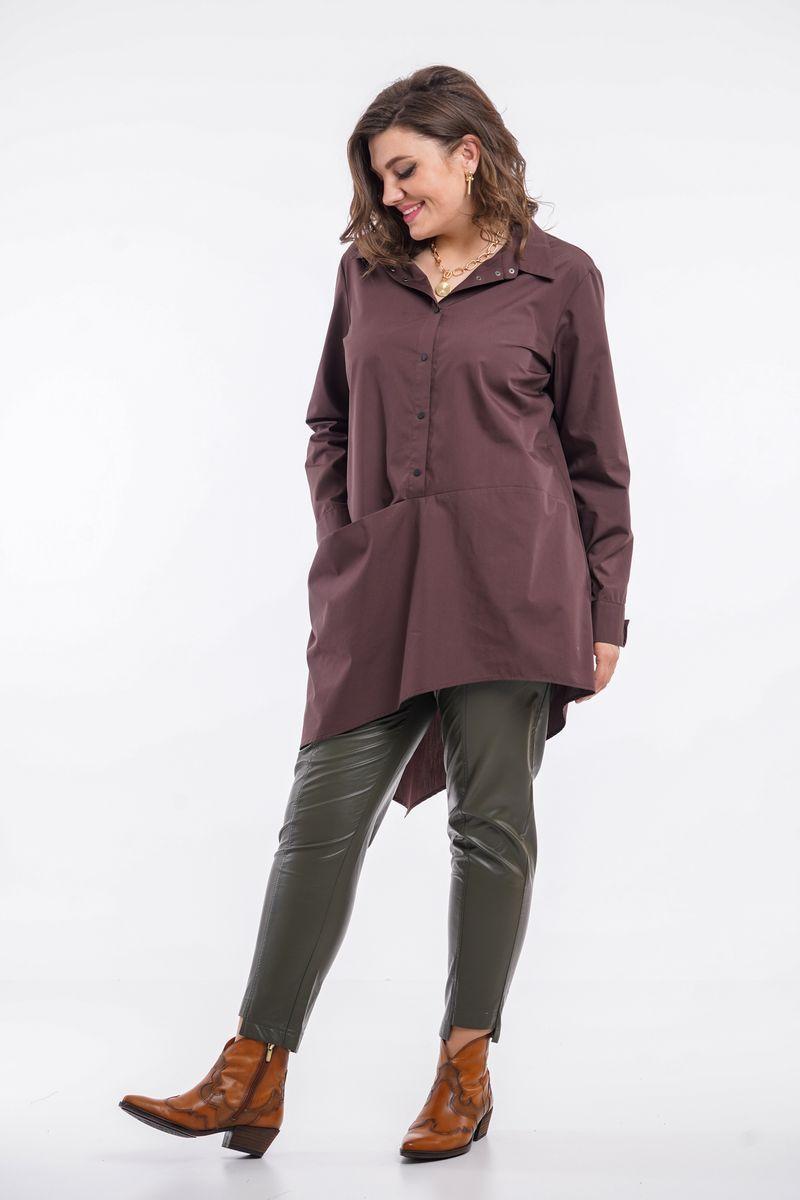 блуза GRATTO 4014 шоколад