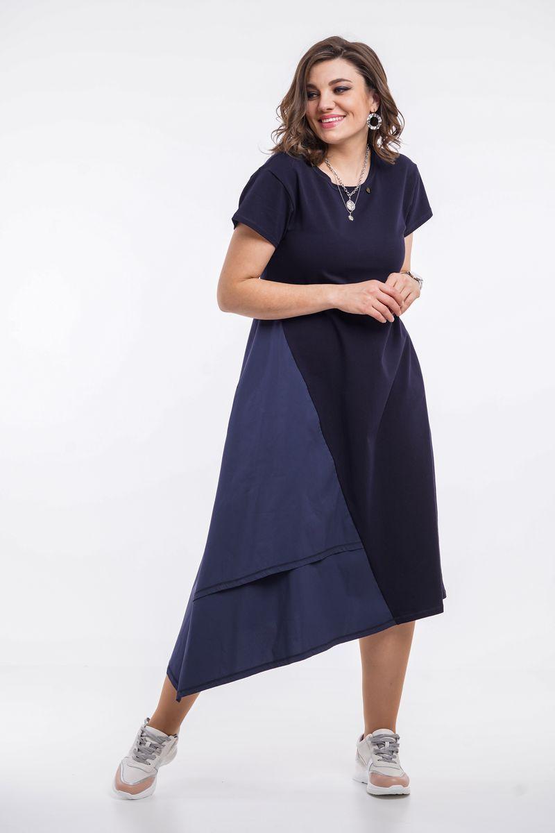 платье GRATTO 8003 синий