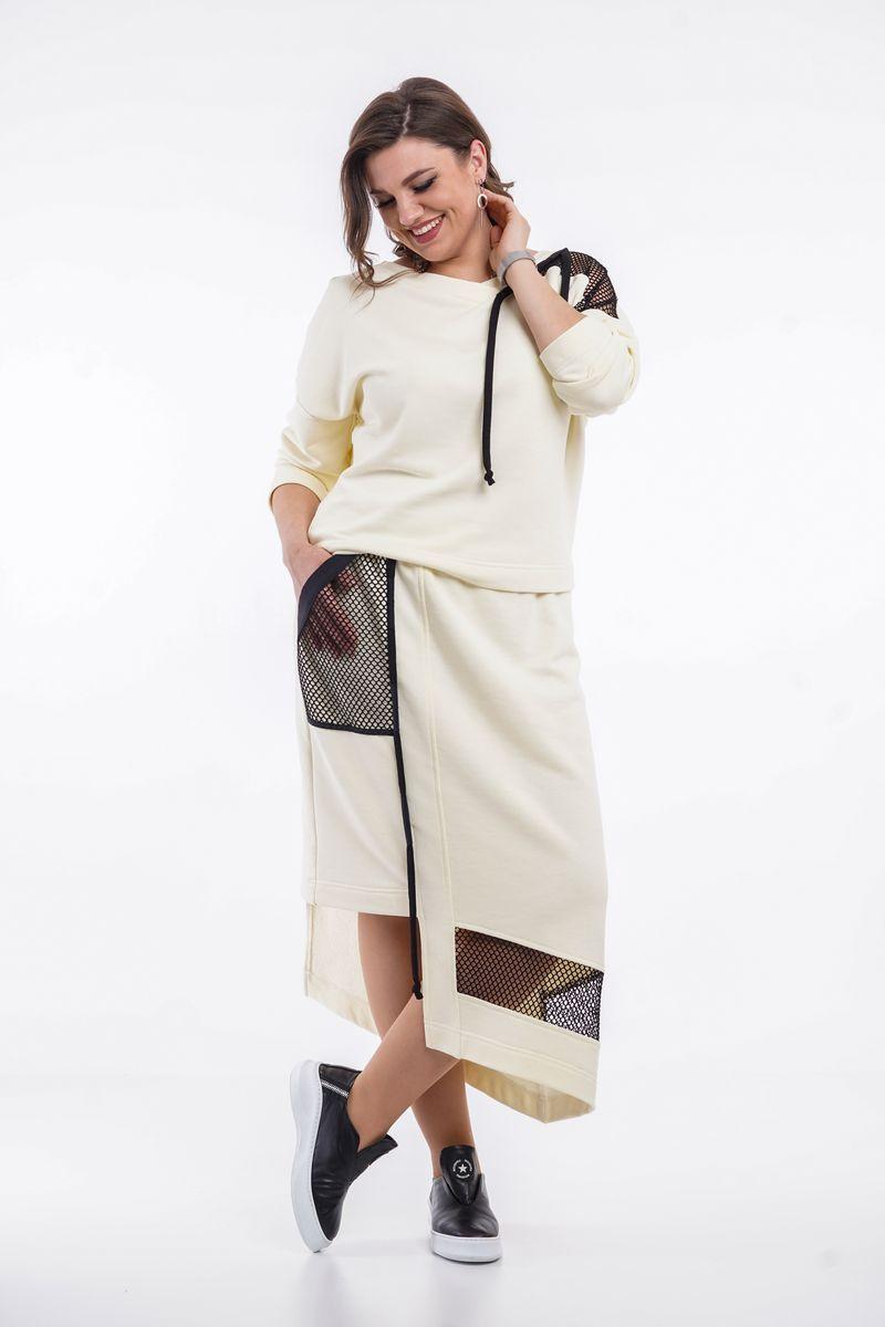 джемпер,  юбка GRATTO 1111 банан