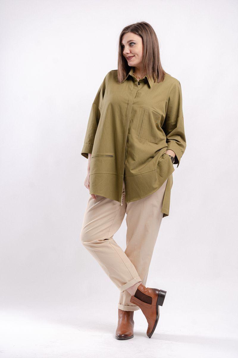 блуза GRATTO 4129 хаки