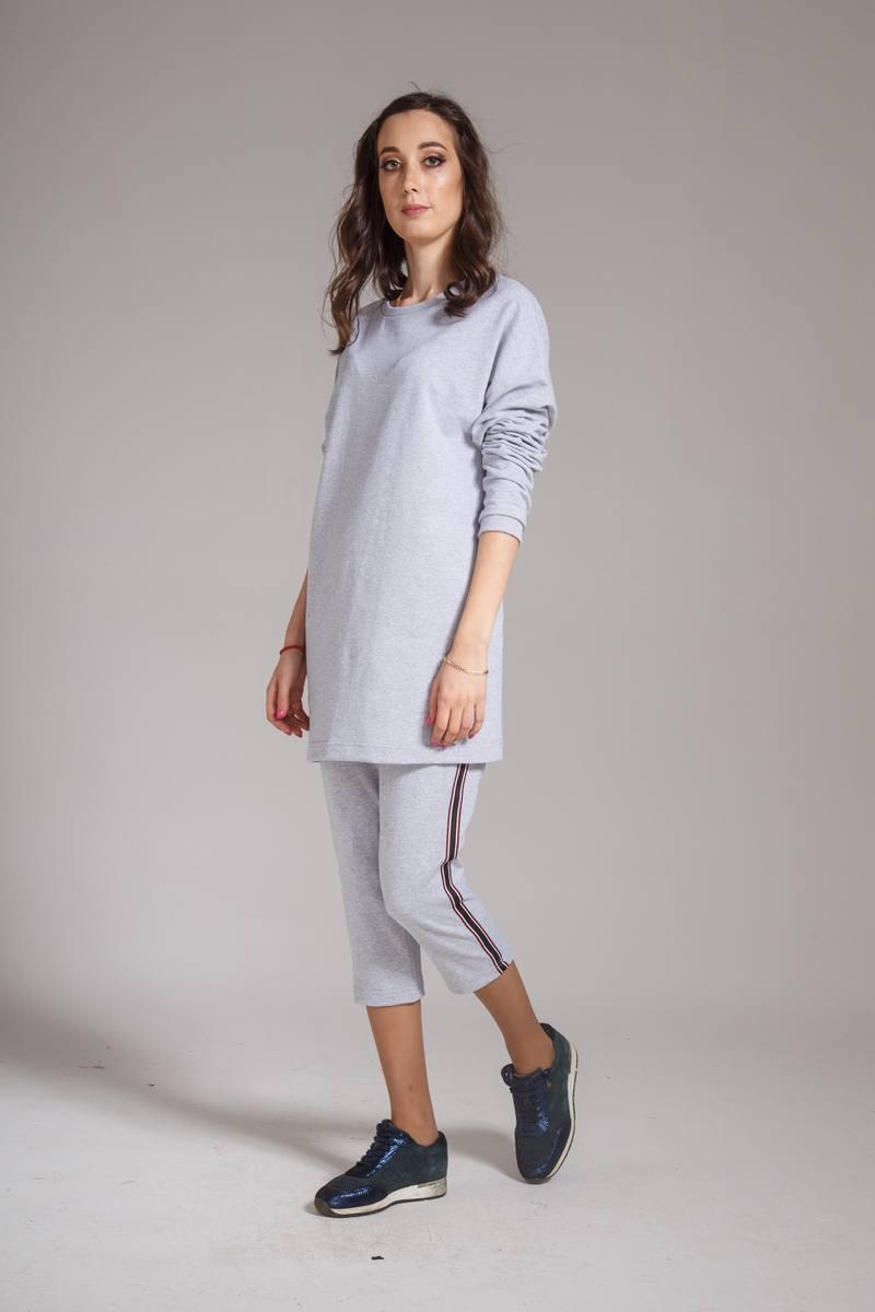 платье AMORI 9317 серый