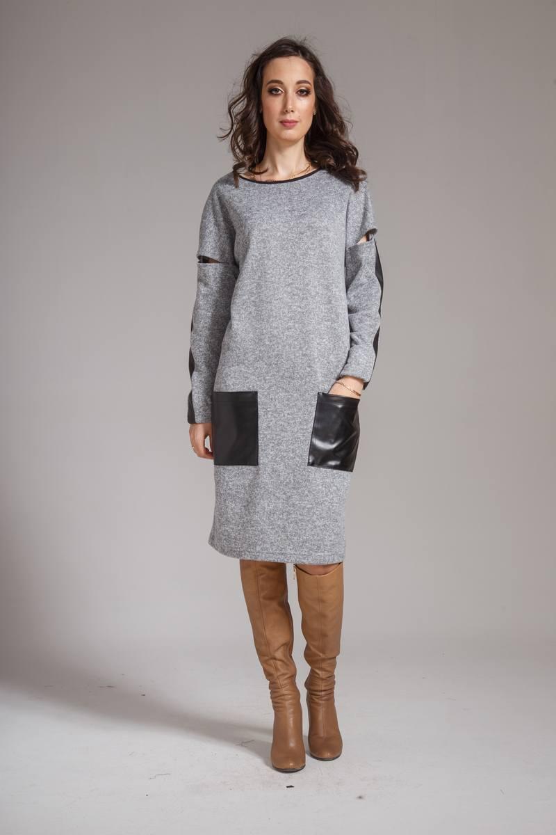 платье AMORI 9303 серый