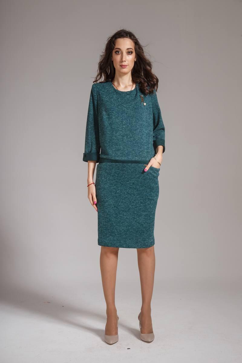 платье AMORI 9298 бирюза