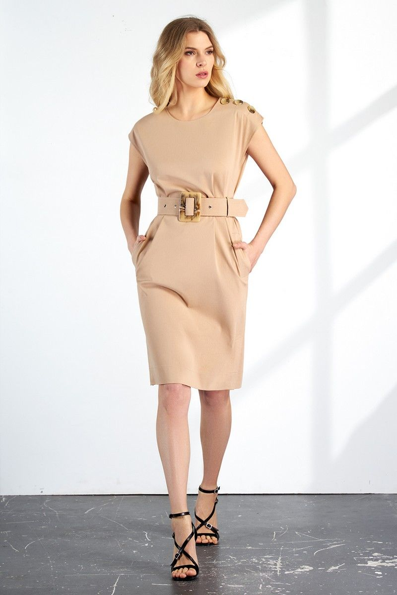 платье Vladini DR1145/1 бежевый