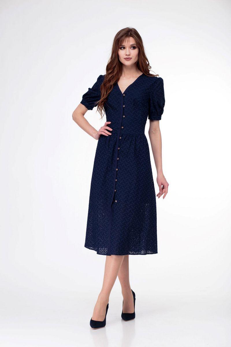 платье AMORI 9525 синий