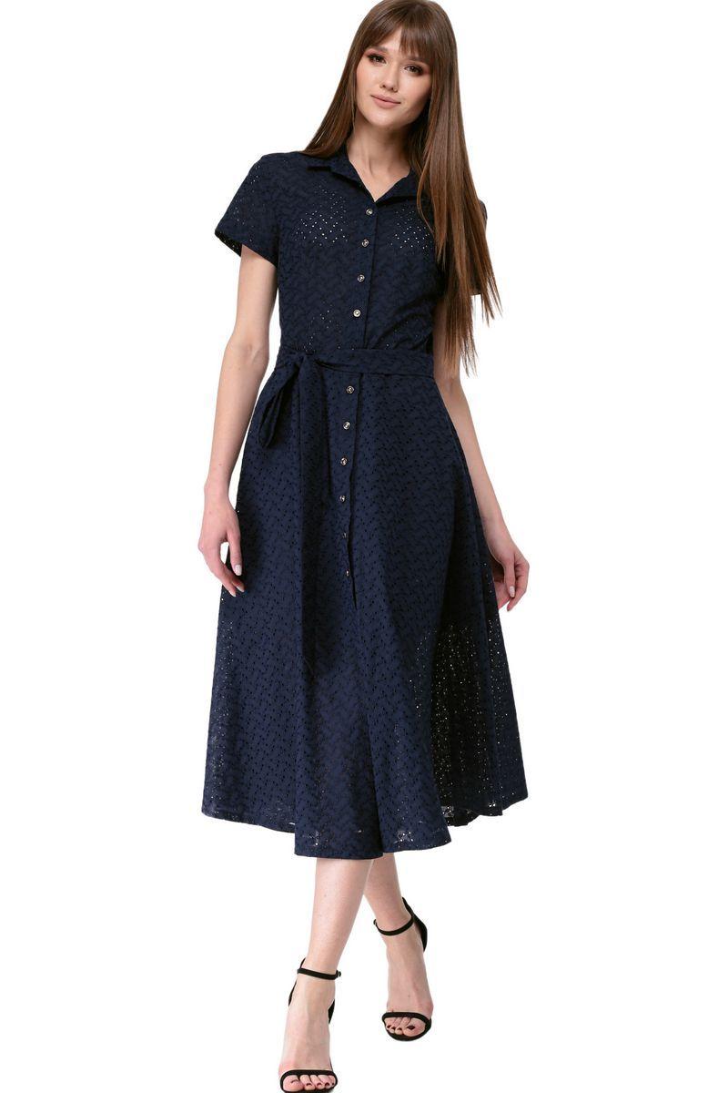 платье AMORI 9528 синий