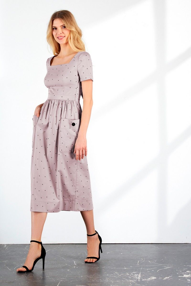 платье Vladini DR1126 лаванда
