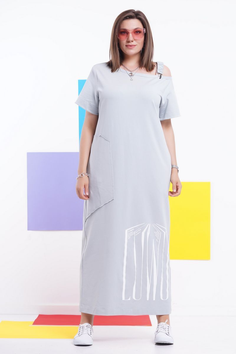 платье GRATTO 8113 мятно-серый