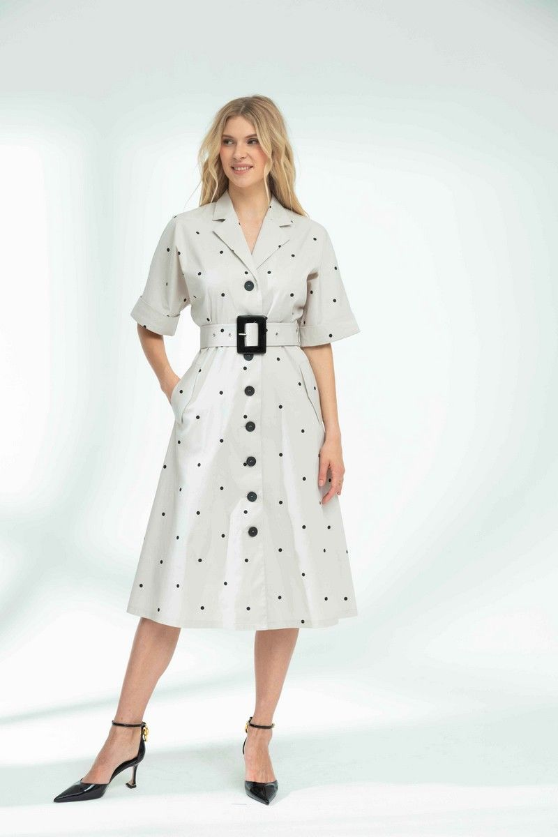 платье Vladini DR1142 светло-серый