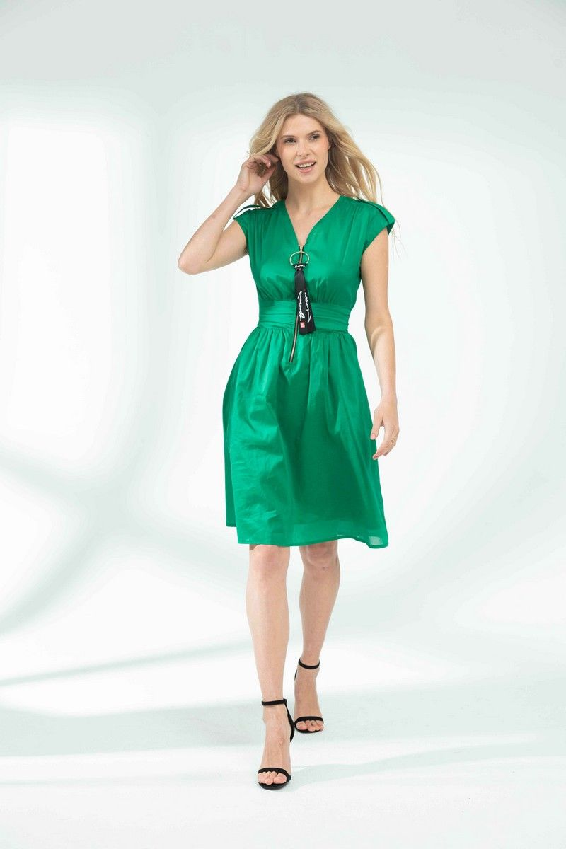 платье Vladini VS923 зеленый