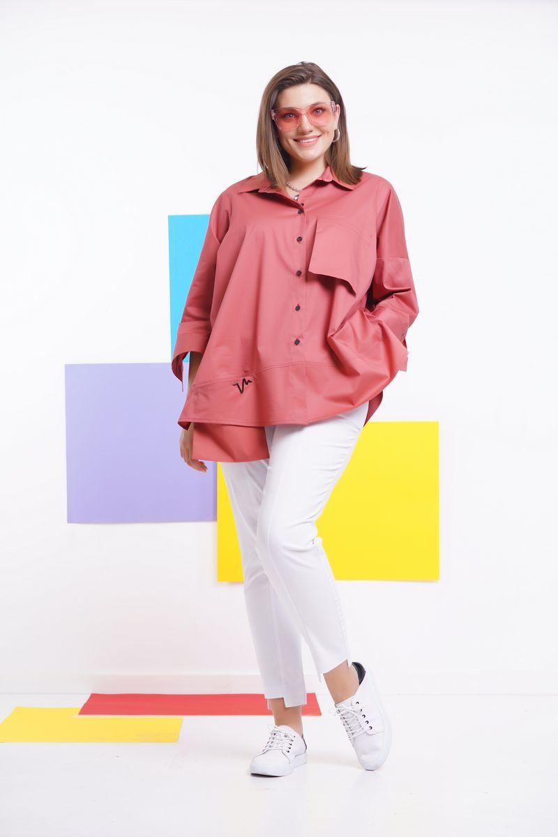 блуза GRATTO 4132 терракот