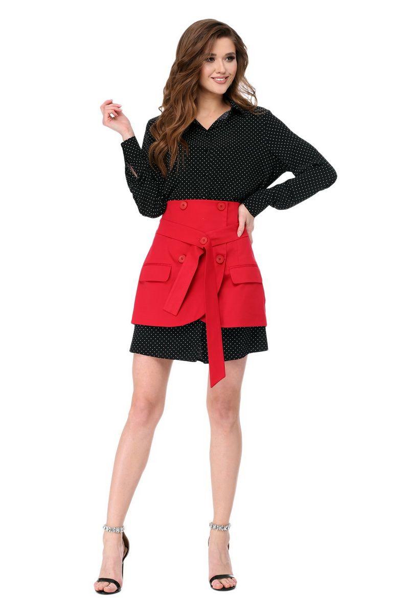 платье,  юбка AMORI 1782 черно-красный