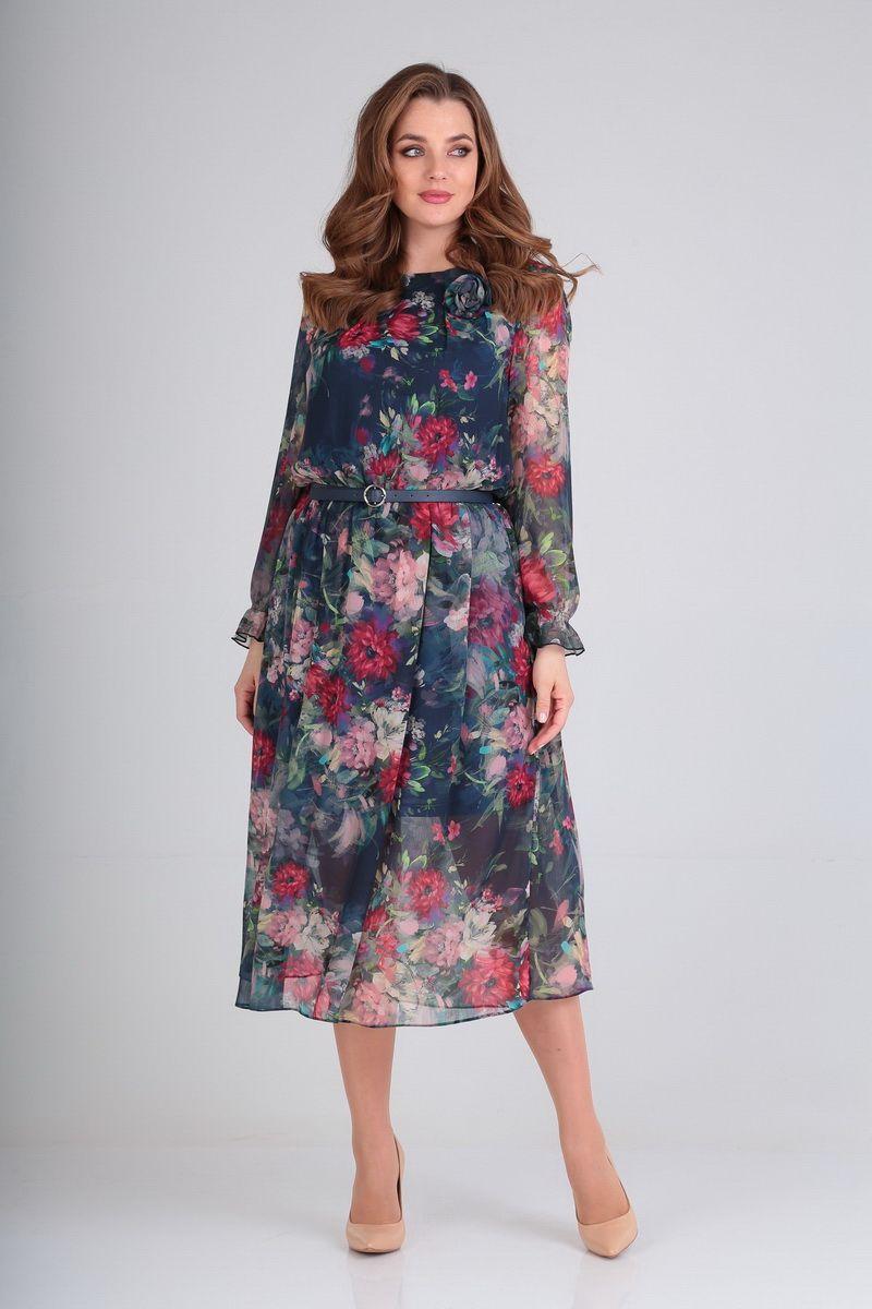 платье AMORI 9541 цветы