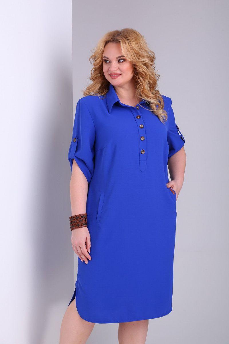 платье AMORI 9527 электрик