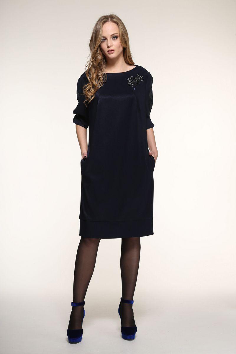 платье AMORI 9329 синий