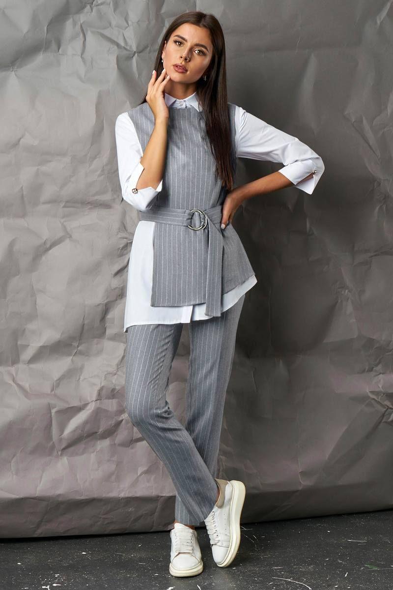 блуза,  брюки,  жилет Mia-Moda 1277-1