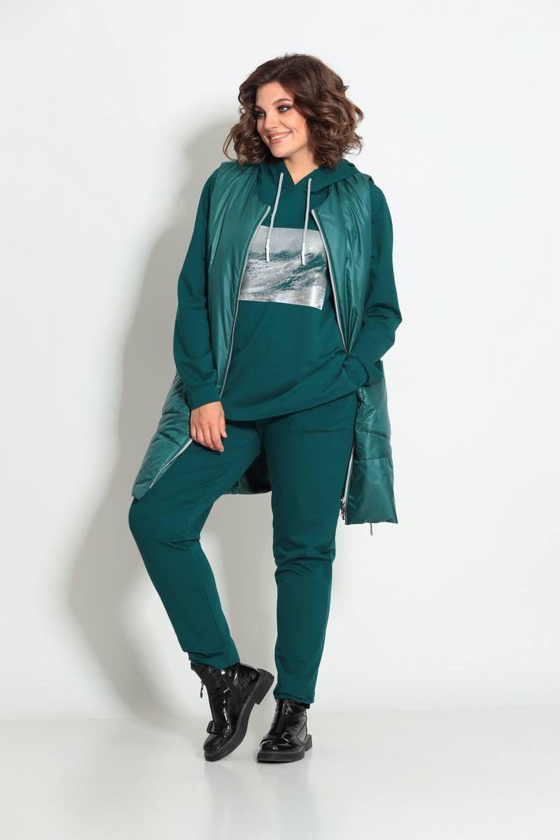 брюки,  жилет, худи TAiER 998 изумруд