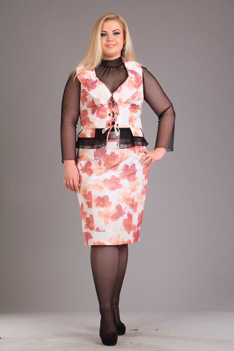 жакет, юбка, водолазка Djerza Артикул: 3001 роз
