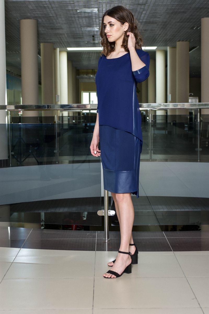 блуза,  платье AMORI 9071 синий