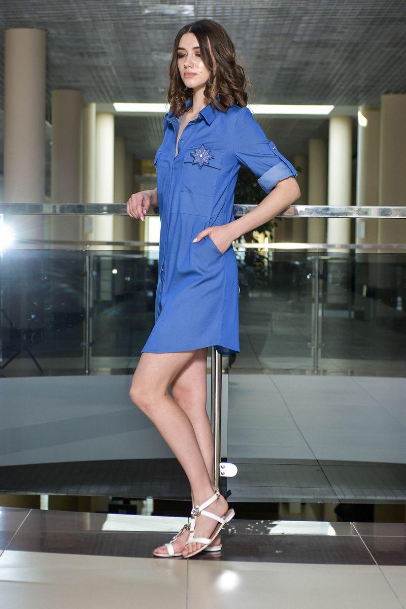 платье AMORI 9385 синий