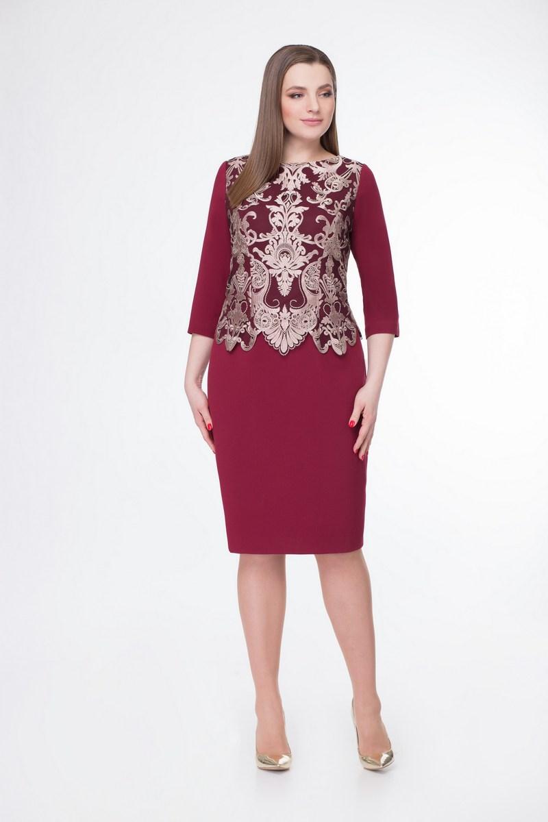 платье Gold Style 2288 бордо