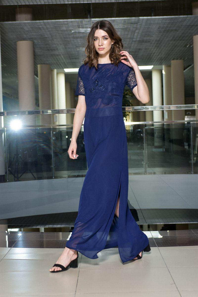 платье AMORI 9373 синий