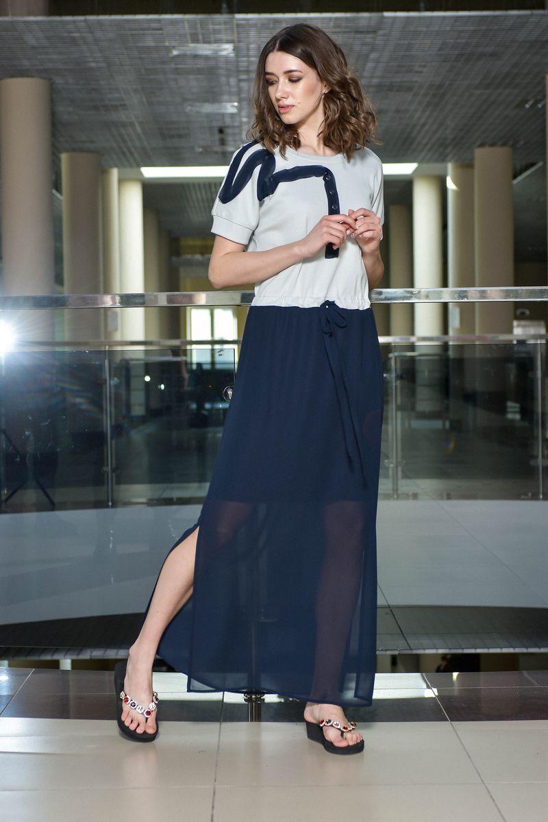 платье AMORI 9374 темно-синий