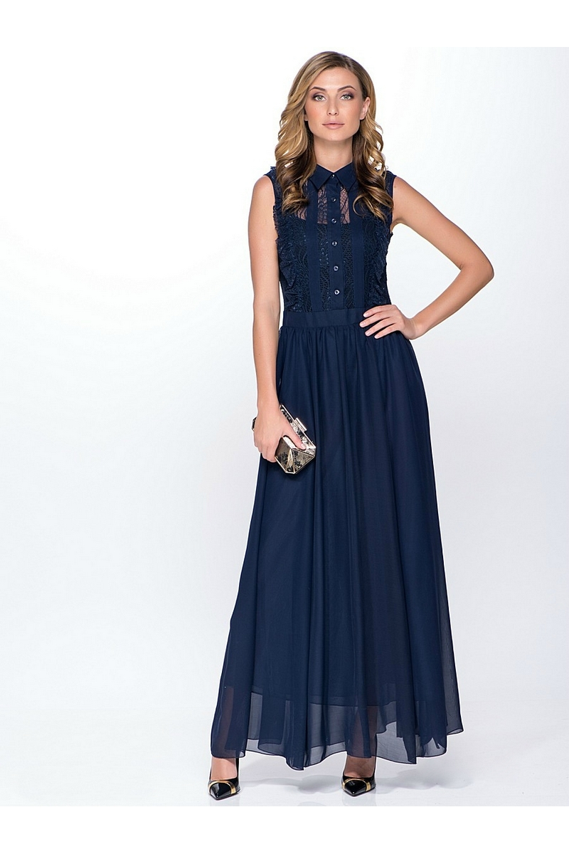 платье AMORI 9090 синий