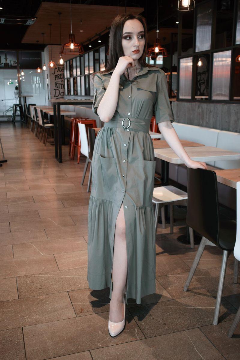 платье AMORI 9375 хаки