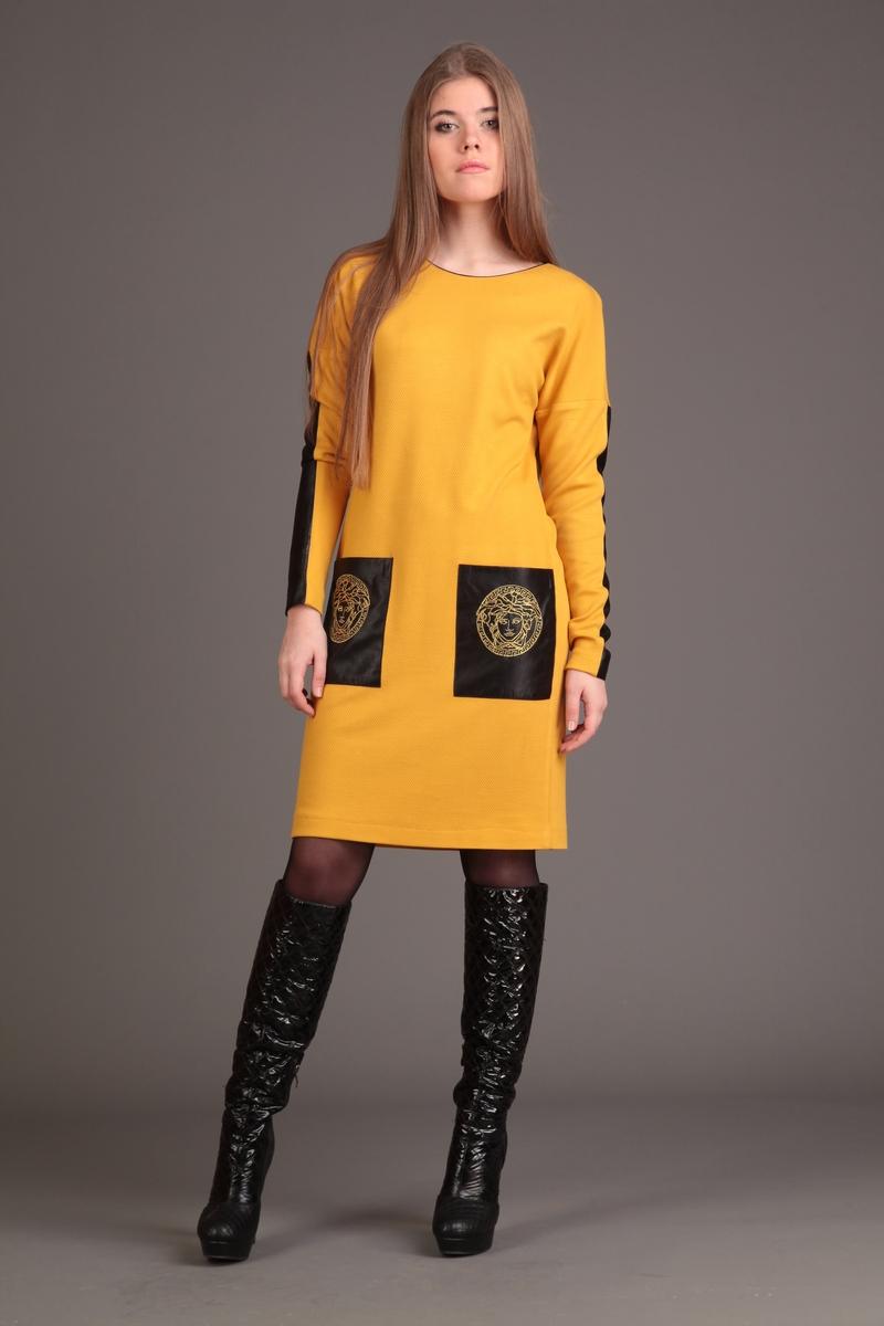 платье AMORI 9132 горчица